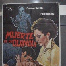 Cine: CDO 5397 MUERTE DE UN QUINQUI PAUL NASCHY CARMEN SEVILLA POSTER ORIGINAL 70X100 ESTRENO. Lote 218606092
