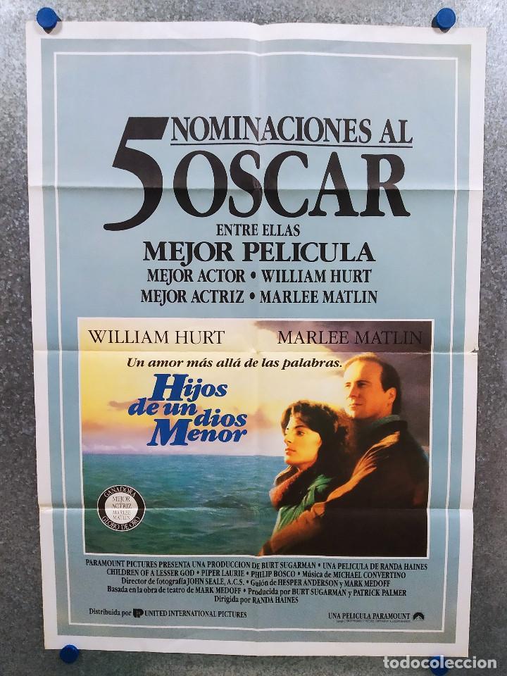 HIJOS DE UN DIOS MENOR. WILLIAM HURT, MARLEE MATLIN. AÑO 1986. POSTER ORIGINAL (Cine- Posters y Carteles - Drama)