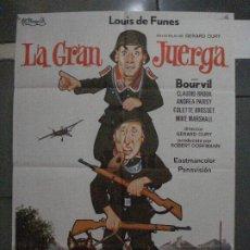 Cinéma: CDO 5403 LA GRAN JUERGA LOUIS DE FUNES BOURVIL POSTER ORIGINAL 70X100 ESPAÑOL R-74. Lote 218618893