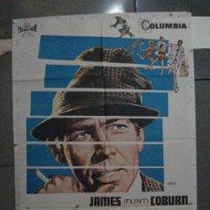 Cine: CDO 5405 LADRON Y AMANTE JAMES COBURN CAMILA SPARV POSTER ORIGINAL 70X100 ESTRENO. Lote 218623826