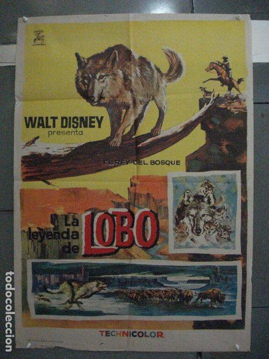 CDO 5412 LA LEYENDA DE LOBO WALT DISNEY POSTER ORIGINAL ESTRENO 70X100 (Cine - Posters y Carteles - Infantil)
