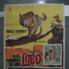 Cine: CDO 5412 LA LEYENDA DE LOBO WALT DISNEY POSTER ORIGINAL ESTRENO 70X100. Lote 218629203