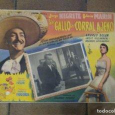 Cine: CARTEL DE LA PELÍCULA JORGE NEGRETE - UN GALLO EN CORRAL AJENO - GLORIA MARIN -. Lote 218674507