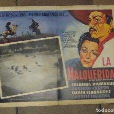 Cine: CARTEL DE LA PELÍCULA LA MALQUERIDA DE JACINTO BENAVENTE.. DOLORES DEL RIO, PEDRO ARMENDARIZ.. Lote 218686747