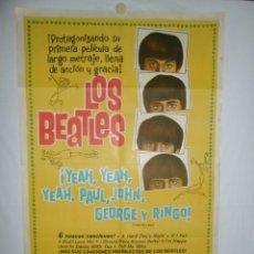 Cinéma: LOS BEATLES - 1965 - 110 X 75 - LITOGRAFICO. Lote 218763871