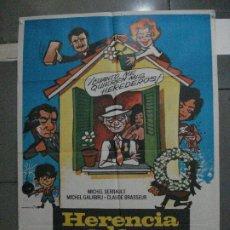 Cine: CDO 5430 HERENCIA A LA FRANCESA MICHEL SERRAULT MATAIX POSTER ORIGINAL 70X100 ESTRENO. Lote 218811860
