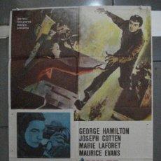 Cine: CDO 5431 JACK DIAMANTES GEORGE HAMILTON JOSEPH COTTEN CARROLL BAKER POSTER ORIGINAL 70X100 ESTRENO. Lote 218818458