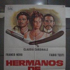 Cine: CDO 5439 HERMANOS DE SANGRE CLAUDIA CARDINALE FRANCO NERO FABIO TESTI POSTER 70X100 ORIGINAL ESTRENO. Lote 218824090