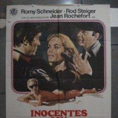 Cine: CDO 5440 INOCENTES CON MANOS SUCIAS ROMY SCHNEIDER POSTER ORIGINAL 70X100 ESTRENO. Lote 218825235