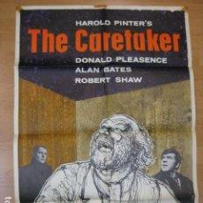 Cine: THE CARETAKER - POSTER CARTEL ORIGINAL INGLES - CLIVE DONNER ALAN BATES DONALD PLEASENCE ROBERT SHAW. Lote 218825443