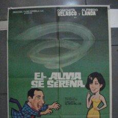 Cine: CDO 5442 EL ALMA SE SERENA ALFREDO LANDA CONCHA VELASCO POSTER ORIGINAL 70X100 ESTRENO. Lote 218826238
