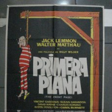 Cine: CDO 5443 PRIMERA PLANA BILLY WILDER JACK LEMMON WALTER MATTHAU MAC POSTER ORIGINAL 70X100 ESTRENO. Lote 218826627