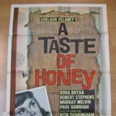 Cine: THE TASTE OF HONEY - POSTER CARTEL ORIGINAL EXTRANJERO - TONY RICHARDSON RITA TUSHINGHAM R STEPHENS. Lote 218826677