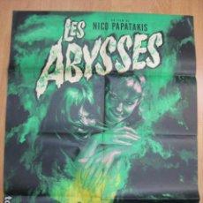 Cine: LES ABYSSES LOS ABISMOS - POSTER CARTEL ORIGINAL FRANCES - NIKOS PAPATAKIS FRANCINE BERGÉ. Lote 218827351