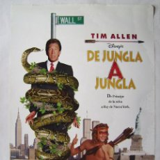 Cine: DE JUNGLA A JUNGLA, CON TIM ALLEN. PÓSTER 68 X 98,5 CMS.. Lote 218847712