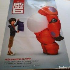 Cine: BIG HERO 6 - ANIMACION - CARTEL ORIGINAL DISNEY AÑO 2014. Lote 218871317