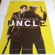 Cine: OPERACION U.N.C.L.E - HENRY CAVILL, ALICIA VIKANDER, GUY RITCHIE - CARTEL ORIGINAL WARNER AÑO 2015. Lote 218872155