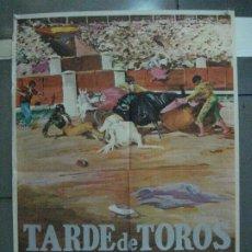 Cine: CDO 5465 TARDE DE TOROS ANTONIO BIENVENIDA DOMINGO ORTEGA POSTER ORIGINAL 70X100 R-71. Lote 219099513