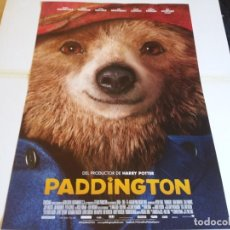Cine: PADDINGTON - HUGH BONNEVILLE, SALLY HAWKINS - CARTEL ORIGINAL WARNER AÑO 2014. Lote 219106126