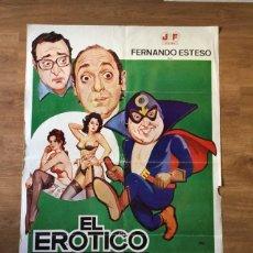 Cine: PÓSTER EL EROTICO ENMASCARADO - FERNANDO ESTESO. Lote 219106901