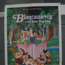 Cine: CDO 5480 BLANCANIEVES Y LOS 7 ENANITOS WALT DISNEY POSTER ORIGINAL 70X100 ESPAÑOL R-92. Lote 219107591