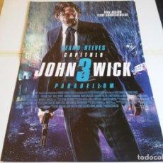 Cine: JOHN WICK 3 PARABELLUM - KEANU REEVES, HALLE BERRY - CARTEL ORIGINAL EONE AÑO 2019 MOD 1. Lote 239486015