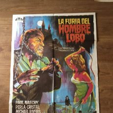 Cinema: PÓSTER LA FURIA DEL HOMBRE LOBO - PAUL NASCHY. Lote 219110161