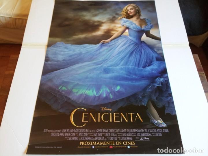 CENICIENTA - LILY JAMES, CATE BLANCHETT, HELENA BONHAM CARTER - CARTEL ORIGINAL DISNEY AÑO 2015 (Cine - Posters y Carteles - Infantil)