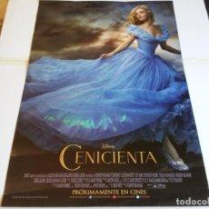 Cine: CENICIENTA - LILY JAMES, CATE BLANCHETT, HELENA BONHAM CARTER - CARTEL ORIGINAL DISNEY AÑO 2015. Lote 219118305