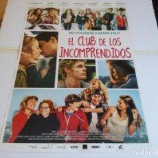 Cine: EL CLUB DE LOS INCOMPRENDIDOS - CHARLOTTE VEGA, ALEX MARUNY - CARTEL ORIGINAL DEAPLANE AÑO 2014. Lote 219209628