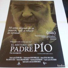 Cine: EL MISTERIO DEL PADRE PIO - JOSÉ MARÍA ZAVALA - CARTEL ORIGINAL DREAM AÑO 2018. Lote 219209937