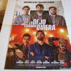 Cine: LO DEJO CUANDO QUIERA - DAVID VERDAGUER, ERNESTO SEVILLA, CARLOS - CARTEL ORIGINAL MEDIASET AÑO 2019. Lote 219210615
