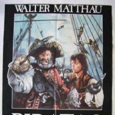 Cine: PIRATAS, CON WALTER MATTHAU. PÓSTER 64,5 X 92,5 CMS.. DISEÑO: MAC.. Lote 219252013