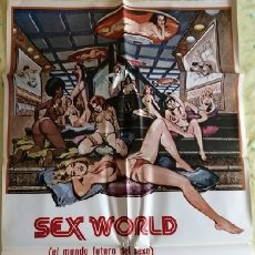 Cine: SEX WORLD, EL MUNDO FUTURO DEL SEXO. CARTEL ORIGINAL. Lote 219264446