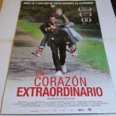 Cine: UN CORAZON EXTRAORDINARIO - ELYAS M'BAREK, PHILIP SCHWARZ - CARTEL ORIGINAL F & P AÑO 2017. Lote 219268297
