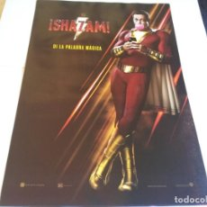 Cine: SHAZAM - ZACHARY LEVI, ASHER ANGEL, JACK DYLAN GRAZER, MARK STRONG - CARTEL ORIGINAL WARNER AÑO 2019. Lote 219274707