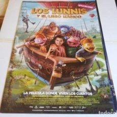 Cine: LOS LUNNIS Y EL LIBRO MAGICO - CARLA CHIORAZZO, BRUNO ORO, LUCRECIA - CARTEL ORIGINAL EONE AÑO 2019. Lote 219276636