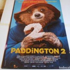 Cine: PADDINGTON 2 - HUGH GRANT, HUGH BONNEVILLE, SALLY HAWKINS - CARTEL ORIGINAL WARNER AÑO 2017. Lote 219277186