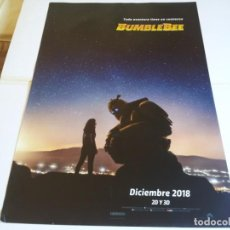 Cine: BUMBLEBEE - HAILEE STEINFELD, JOHN CENA, PAMELA ADLON - CARTEL ORIGINAL PARAMOUNT AÑO 2018 PREVIO. Lote 219277668