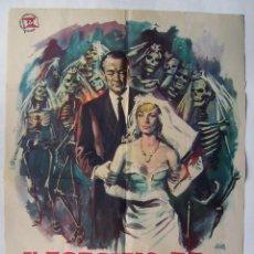 Cine: EL ASESINO DE MUJERES, CON GEORGE SANDERS. PÓSTER 70 X 100 CMS.1964. DISEÑO: JANO.. Lote 219298550
