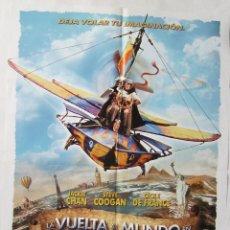 Cine: LA VUELTA AL MUNDO EN 80 DÍAS, CON JACKIE CHAN. PÓSTER 68 X 97,5 CMS.2004.. Lote 219300548
