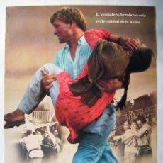 Cine: LA CIUDAD DE LA ALEGRÍA, CON PATRICK SWAYZE. PÓSTER 68,5 X 99,5 CMS.1992.. Lote 219303673