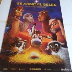 Cine: SE ARMO EL BELEN - ANIMACION - CARTEL ORIGINAL SONY AÑO 2017. Lote 219309438