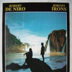 Cine: MISSION (LA MISIÓN), CON ROBERT DE NIRO. PÓSTER 67,5 X 100 CMS.. Lote 219310500