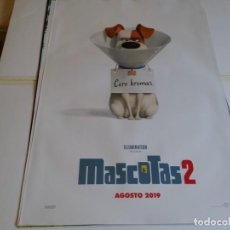 Cine: MASCOTAS 2 - ANIMACION - CARTEL ORIGINAL UNIVERSAL AÑO 2019. Lote 219310710