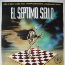 Cine: EL SÉPTIMO CIELO, CON MAX VON SYDOW. PÓSTER 68,5 X 99 CMS.. Lote 219311551