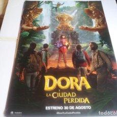 Cine: DORA Y LA CIUDAD PERDIDA - ISABELA MERCED, EUGENIO DERBEZ - CARTEL ORIGINAL UNIVERSAL AÑO 2019. Lote 219313032