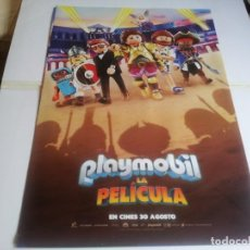 Cine: PLAYMOBIL LA PELICULA - ANIMACION - CARTEL ORIGINAL DEAPLANETA AÑO 2019. Lote 219313306