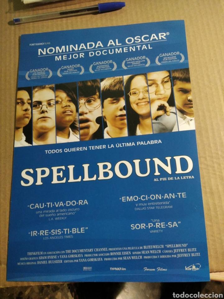 CARTEL DE CINE SPELLBOUND (Cine - Posters y Carteles - Documentales)