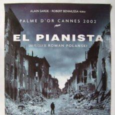 Cine: EL PIANISTA DE ROMAN POLANSKI. POSTER, 69 X 98,5 CMS.. Lote 219323205